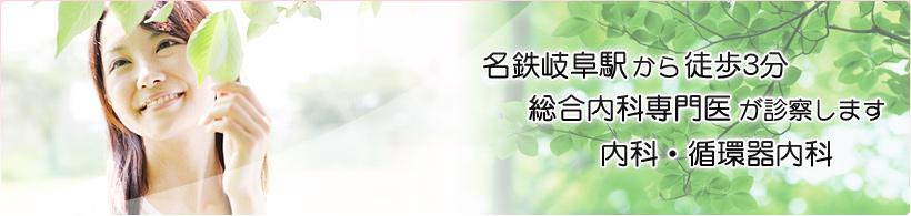名鉄岐阜駅から徒歩3分 総合内科専門医が診察します 内科・循環器内科